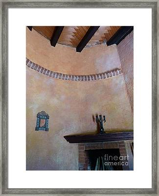 Framed Print featuring the photograph Pink Adobe Wall by Rosanne Licciardi