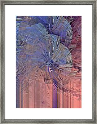 Pink, Blue And Purple Framed Print