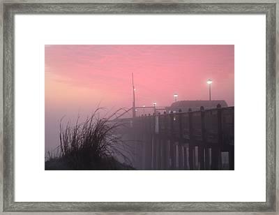 Framed Print featuring the photograph Pink Fog At Dawn by Robert Banach