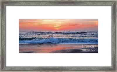 Pink Sunrise Panorama Framed Print