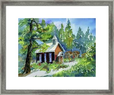 Pioneer Union Church Framed Print