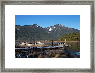 Pitt Lake Winterimpression Framed Print