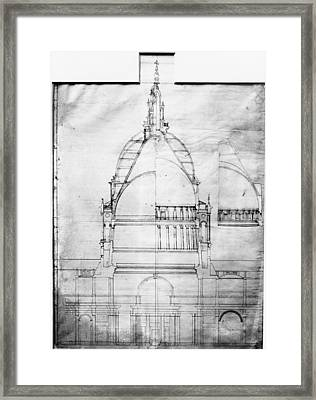 Plan Of St Pauls Framed Print by Topical Press Agency