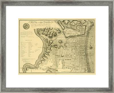 Plan Of The City Of Philadelphia And Its Environs Shewing The Improved Parts, 1796 Framed Print