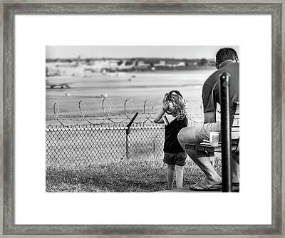 Plane Watching Framed Print