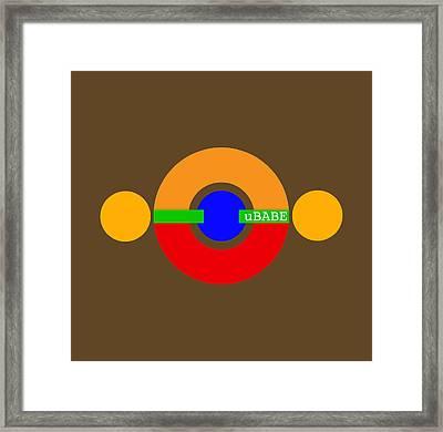 Planet Babe Framed Print