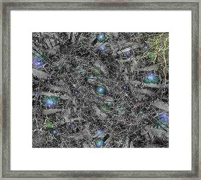 Framed Print featuring the digital art Planet Birth by Bill Posner