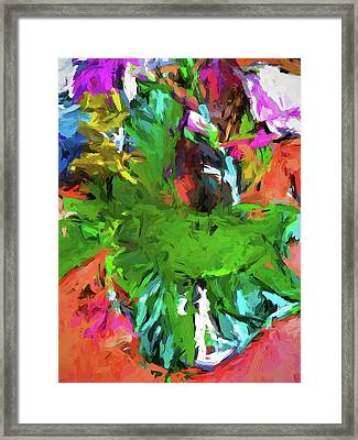 Plant With The Green And Turquoise Leaves Framed Print