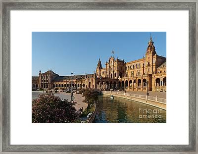 Plaza De Espana Bridge View Framed Print