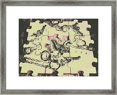 Plot Holes Framed Print