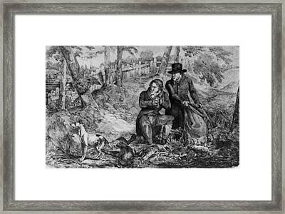 Poachers At Work Framed Print by Hulton Archive