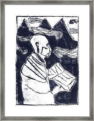 Poet Reading To Wind Clouds Otdv3 13 Framed Print