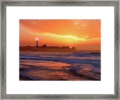 Point Arena Lighthouse Framed Print by Leland D Howard