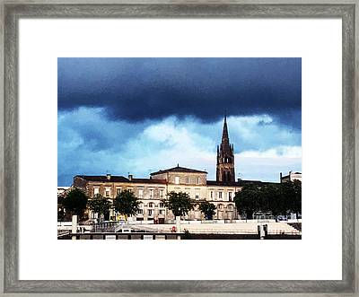 Poking The Storm Framed Print