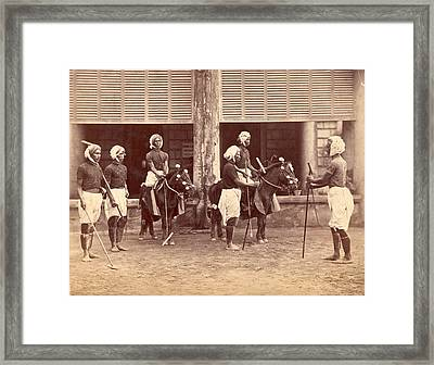 Polo In India Framed Print by Henry Guttmann Collection