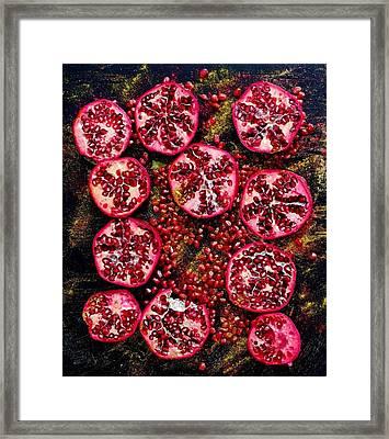 Pomegranate New Year Framed Print