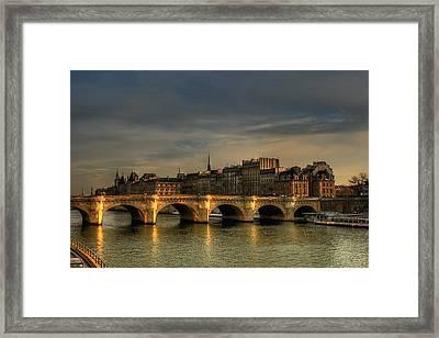 Pont Neuf  At Sunset, Paris, France Framed Print by Avi Morag Photography