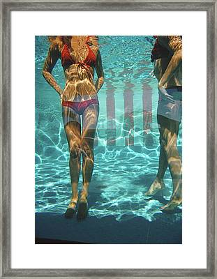 Pool At Las Brisas Framed Print