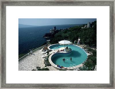 Pool At Villa Gli Arieti Framed Print