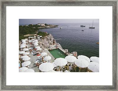 Pool By The Sea Framed Print