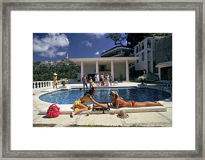 Poolside Backgammon Framed Print