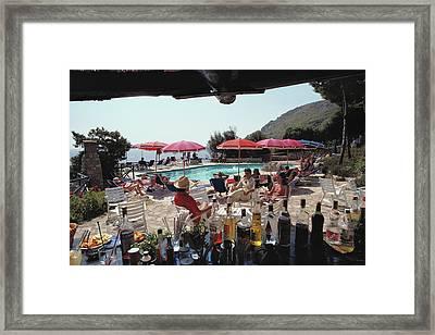Poolside Bar Framed Print