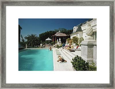 Poolside Chez Holder Framed Print
