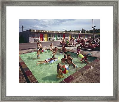 Poolside Fun At Arca Manor Framed Print