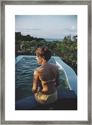 Poolside In Kenya Framed Print