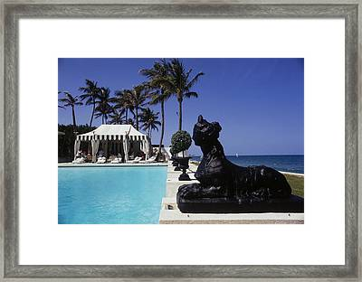Poolside Luncheon Framed Print