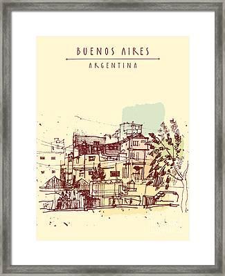 Poor Neghborhood In Buenos Aires Framed Print by Babayuka