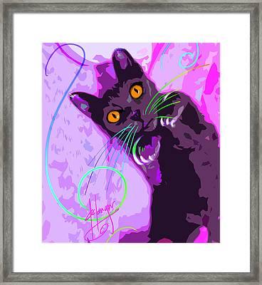 Pop Cat Angel Framed Print