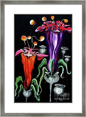 Poppies Fantasy.. Framed Print