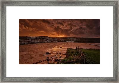 Porthmeor Sunset 2 Framed Print