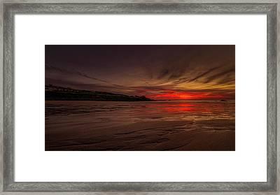 Porthmeor Sunset Framed Print