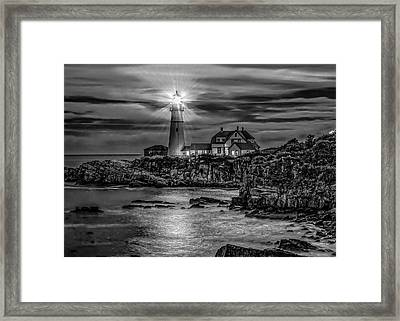 Portland Lighthouse 7363 Framed Print