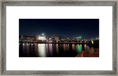 Framed Print featuring the photograph Portland Oregon Skyline 102118 by Rospotte Photography