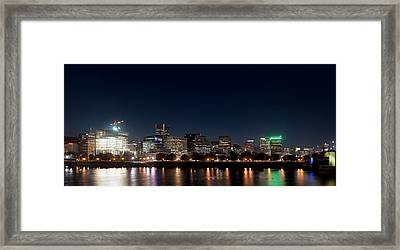 Framed Print featuring the photograph Portland Oregon Skyline V2 by Rospotte Photography