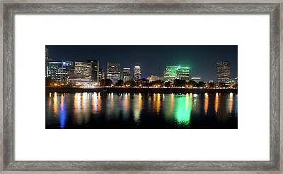 Framed Print featuring the photograph Portland Oregon Skyline V3 by Rospotte Photography