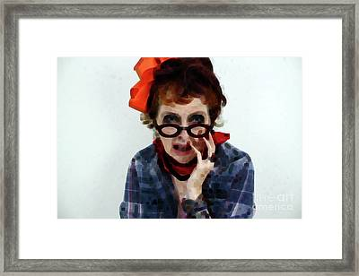 Portrait In Question  Framed Print by Steven Digman