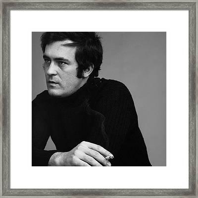 Portrait Of Bernardo Bertolucci Framed Print by Jack Robinson