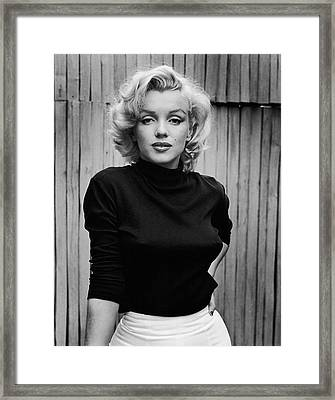 Portrait Of Marilyn Monroe Framed Print