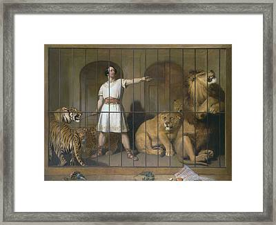 Portrait Of Mr. Van Amburgh, As He Appeared With His Animals At The London Theatres Framed Print