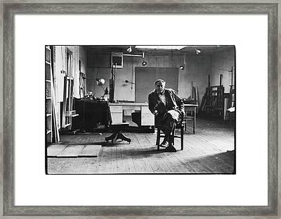 Portrait Of Philip Guston Framed Print by Fred W. McDarrah