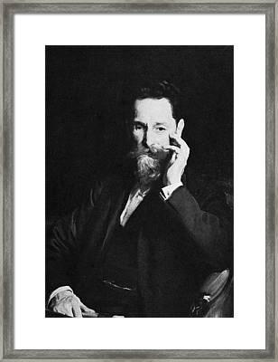 Portrait Of Publisher Joseph Pulitzer Framed Print by Hulton Archive