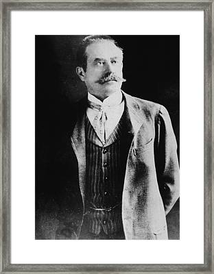 Portrait Of Stanford White Framed Print by Hulton Archive