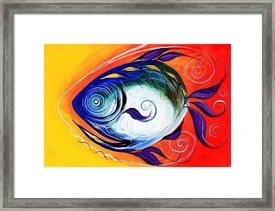 Positive Fish Framed Print