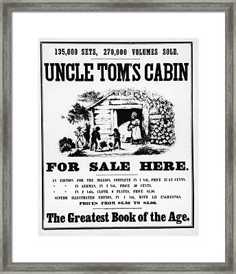 Poster For Uncle Toms Cabin Framed Print by Kean Collection