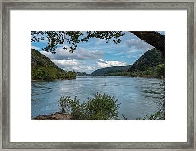 Potomac River At Harper's Ferry Framed Print