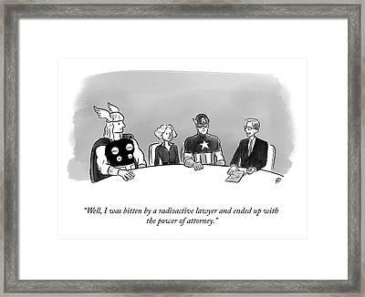 Power Of Attorney Framed Print
